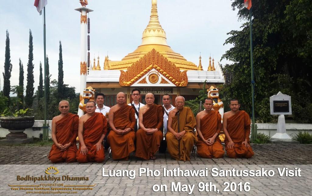 Kunjungan Luang Pho Inthawai Santussako 09 Mei 2016, PDA, Batu