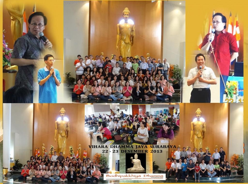 Tgl. 22-23 Desember 2013  Dhamma Camp bersama Bp. Selamat Rodjali, di GW, Tretes